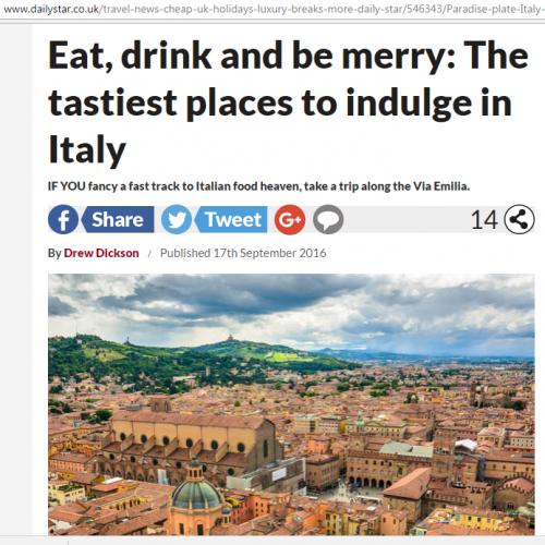 Modena e l'Emilia Romagna su Daily Star! (UK) | News