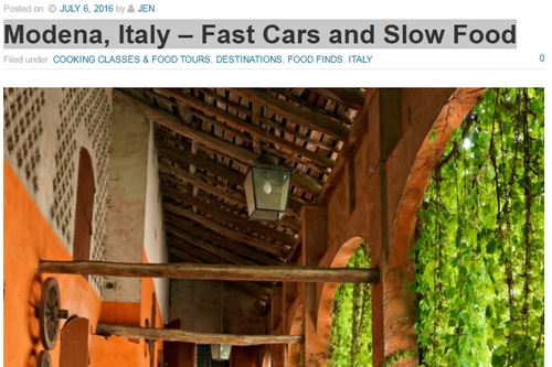 Modena, Italy – Fast Cars and Slow Food | News